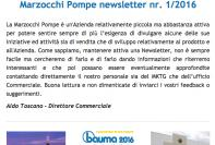 Marzocchi Pompe newsletter nr. 1 / 2016